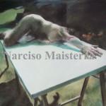 5 -Narciso Tablero verde nº 10, 2010, Pastel, 50x70 cms.   copia